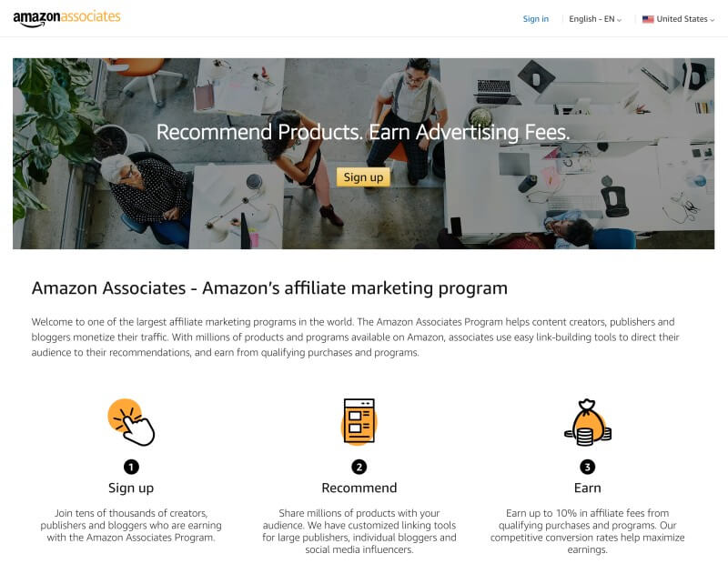 Amazon Associates Program - Affiliate marketing for dummies
