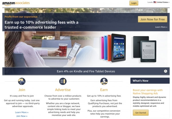 Amazon Associates Program - Make money blogging and earn passive income online