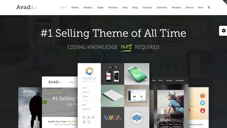 Avada Theme the best WordPress themes for bloggers and blogging