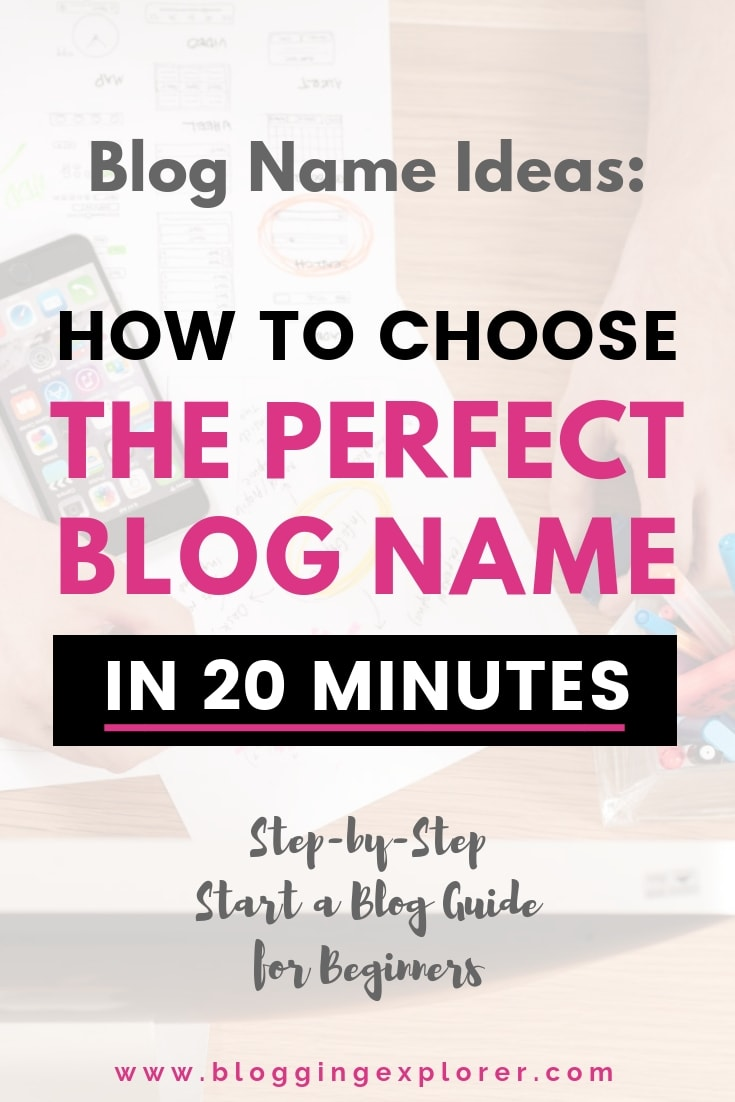 How to Choose the Perfect Blog Name - Start a Blog and Find a Great Blog Name