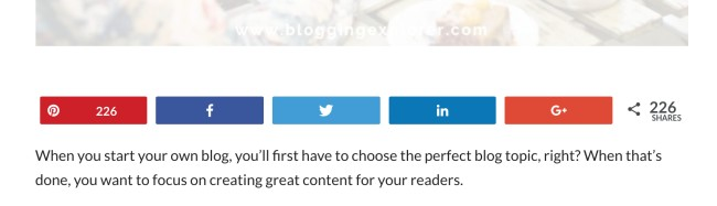 Blogging tips for writing an awesome blog post - Add social sharing buttons to your blog posts
