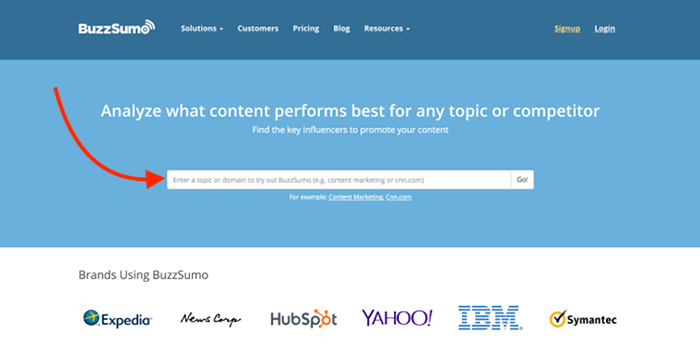 Buzzsumo - Find keyword and blog post ideas fast