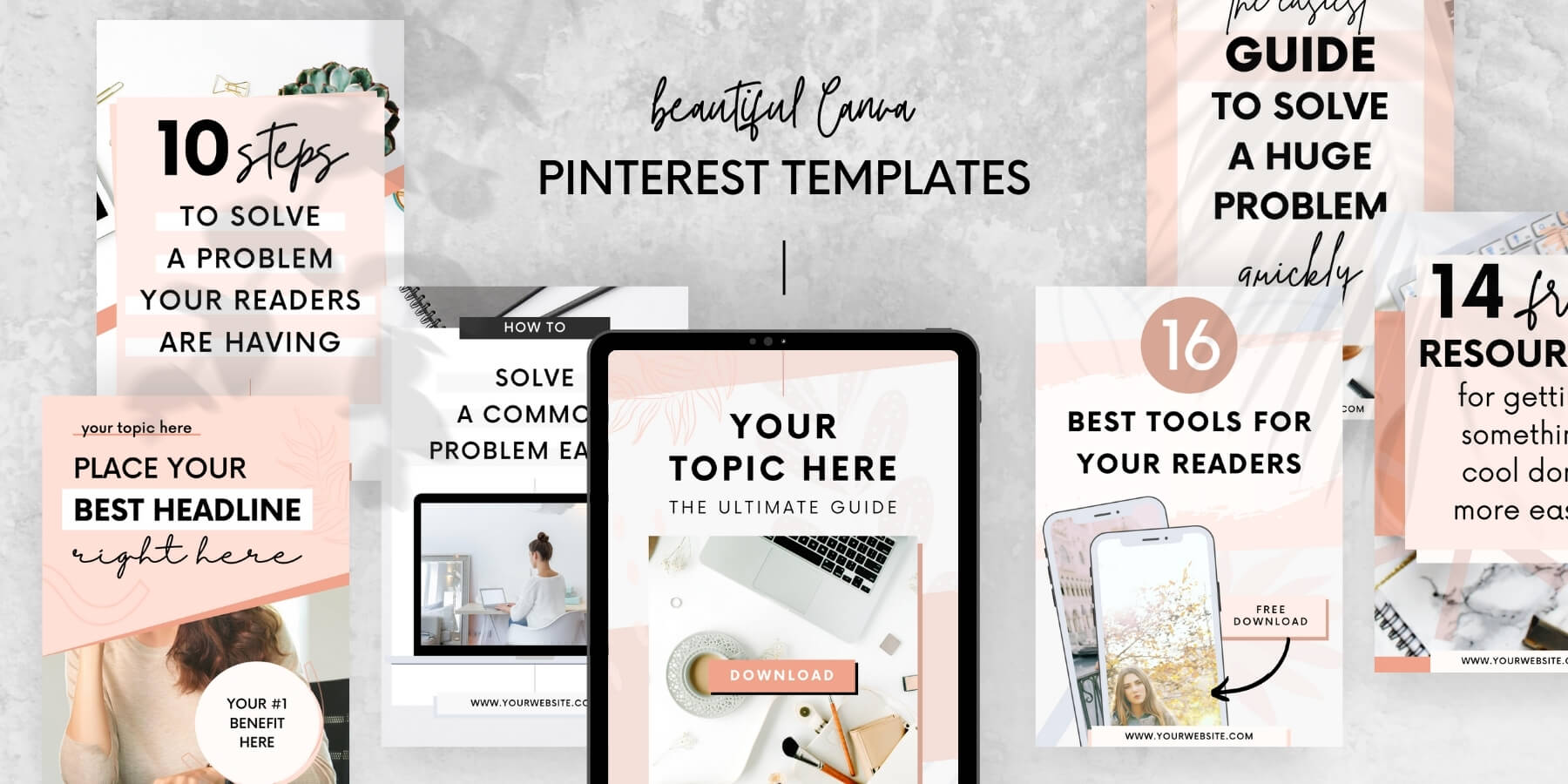 Canva Pinterest Templates for content creators and bloggers - Product preview