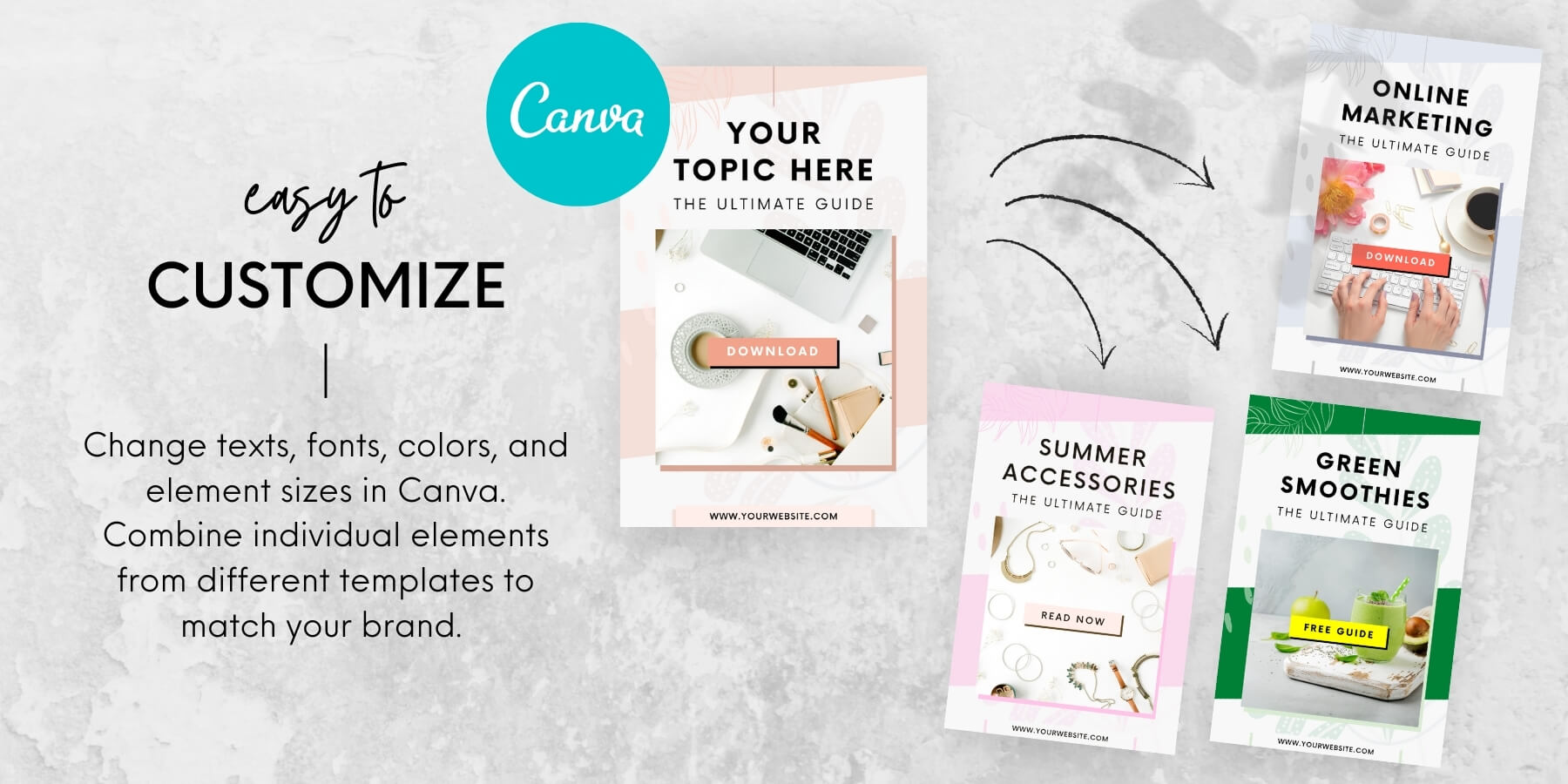 Canva Pinterest templates - Easy to customize and edit to match your brand and needs