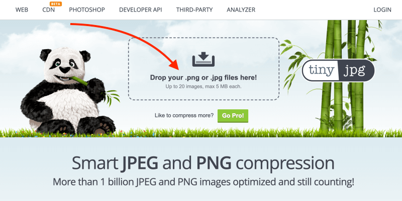 Compress image files with TinyJPG - Blogging Explorer