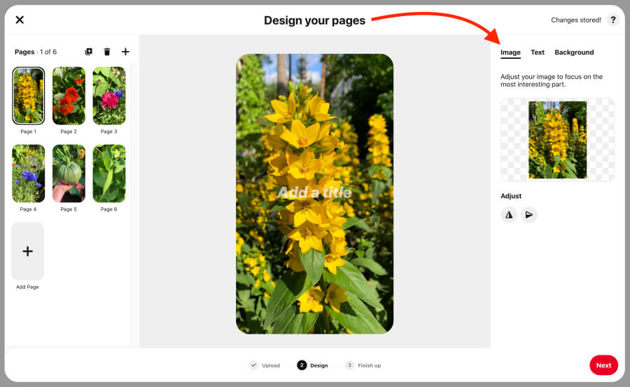 Design your pages for Idea Pins on Pinterest