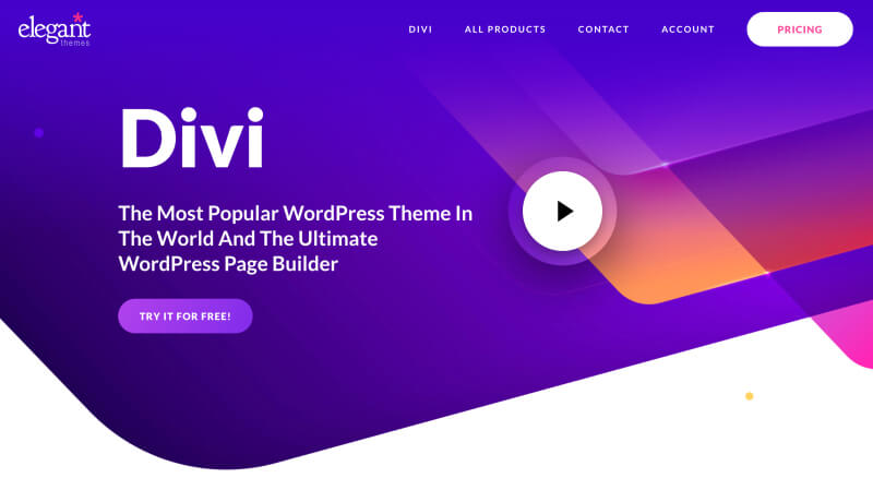 Divi theme - The best WordPress theme for bloggers and small businesses