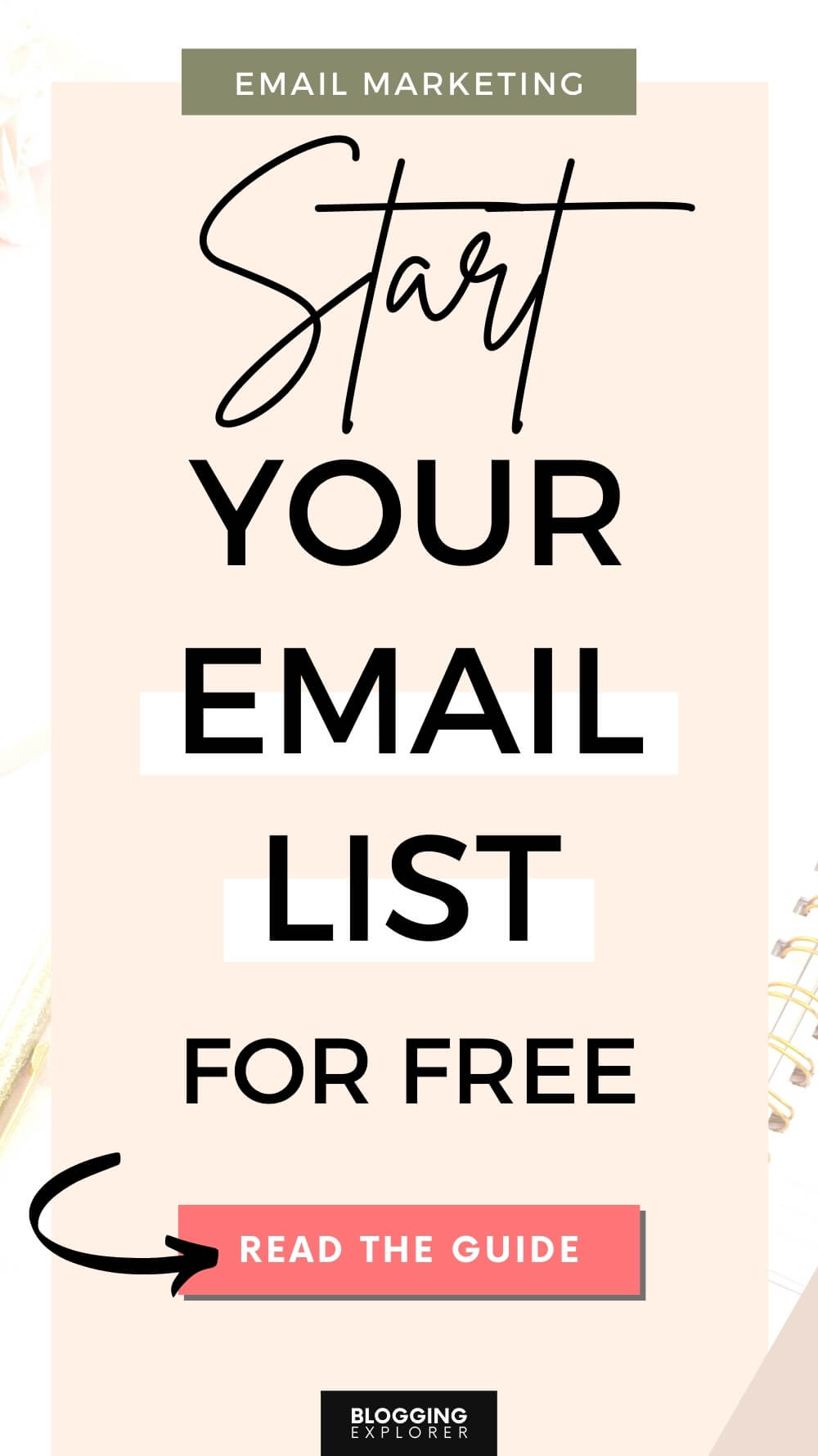 Email marketing for beginners - Start an email list for free - Make money blogging