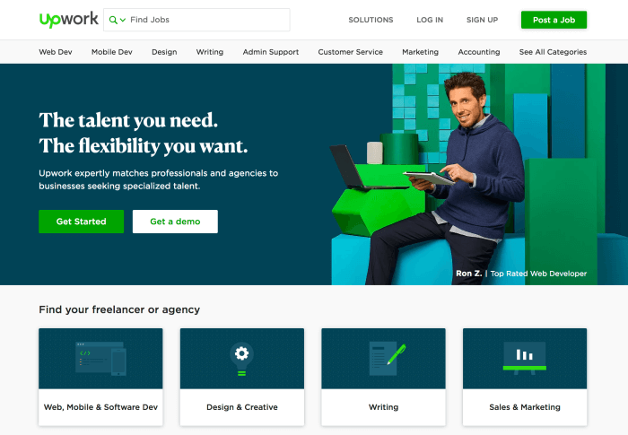 Find freelance work online with UpWork and make money blogging