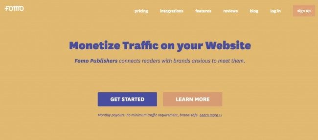 Fomo Ads - Best ad networks for new bloggers to make money online