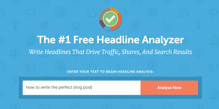 Free blog post title analyzer - CoSchedule