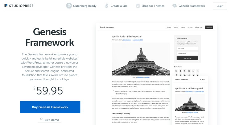 Genesis Framework the best WordPress themes for bloggers