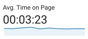 Google Analytics - Average time on page