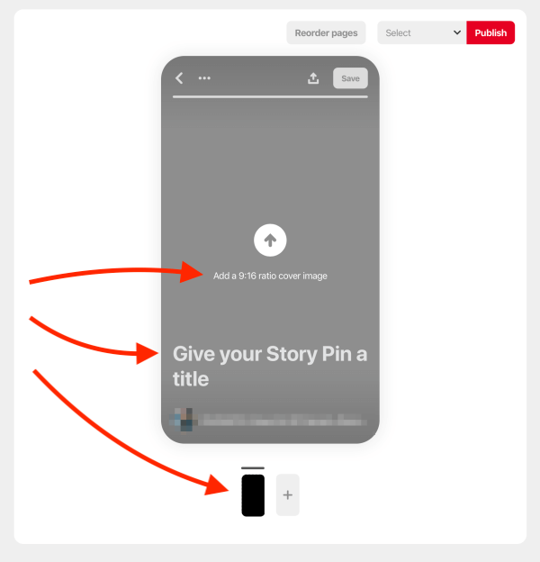 How to create a Story Pin - Add cover image and Story Pin title