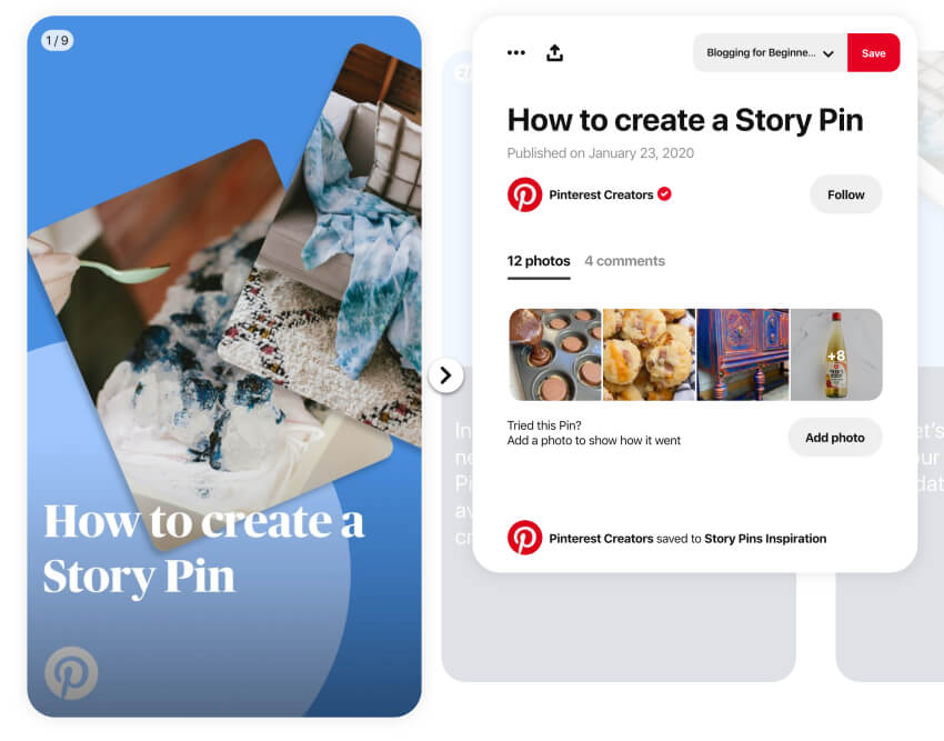 How to create a Story Pin - Guide on Pinterest
