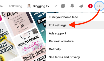 How to edit Pinterest profile settings