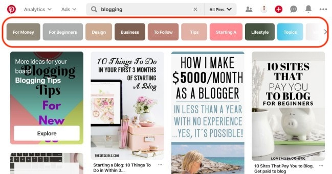 How to find your blog target audience - Finding popular and related Pinterest keywords for blog post ideas and topics