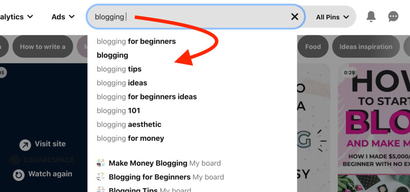 How to find your blog target audience - Pinterest keywords for blog post ideas and topics
