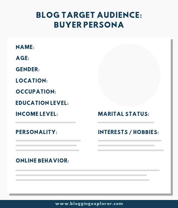 How to find your blog target audience and buyer persona or customer avatar