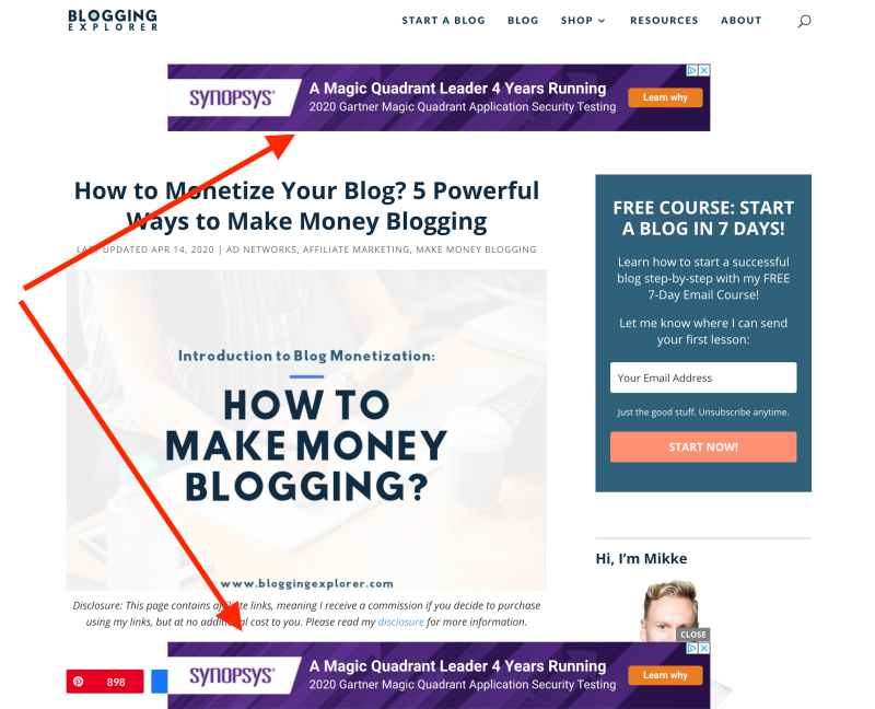 How to make money blogging for beginners - Display ads and passive income