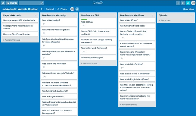 How to organize and plan your content and blogging strategy - Managing your blog strategy with Trello