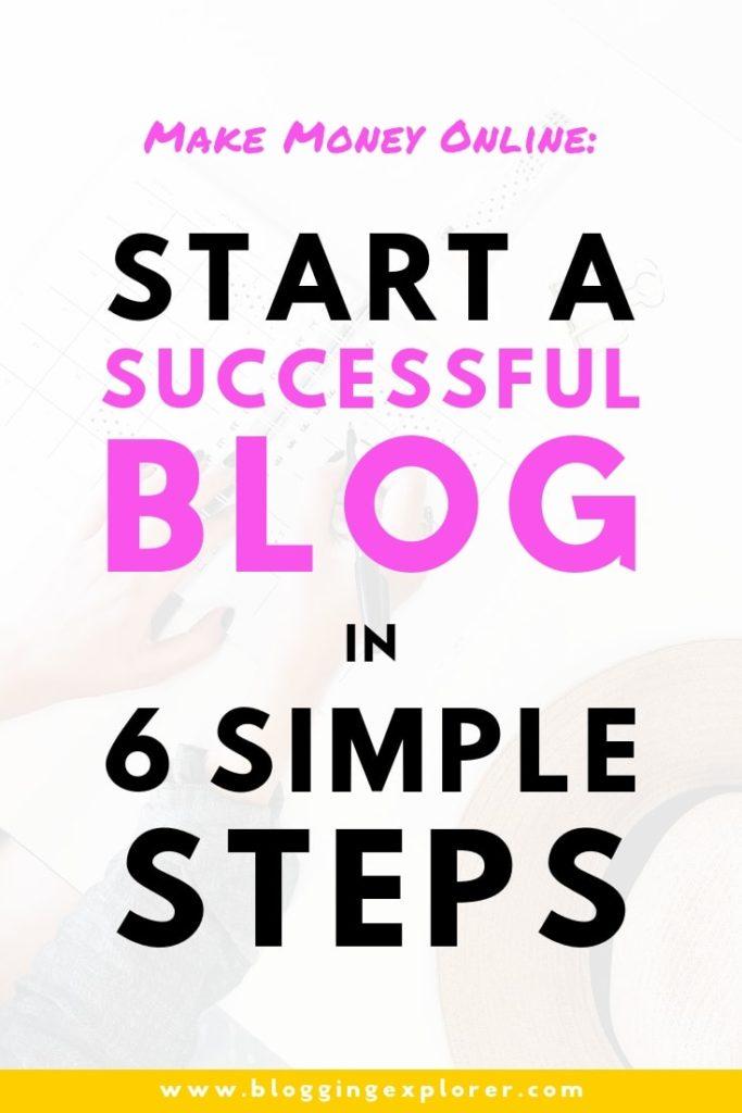 How To Start A Profitable Blog In 6 Easy Steps For Beginners - Monetize Blog