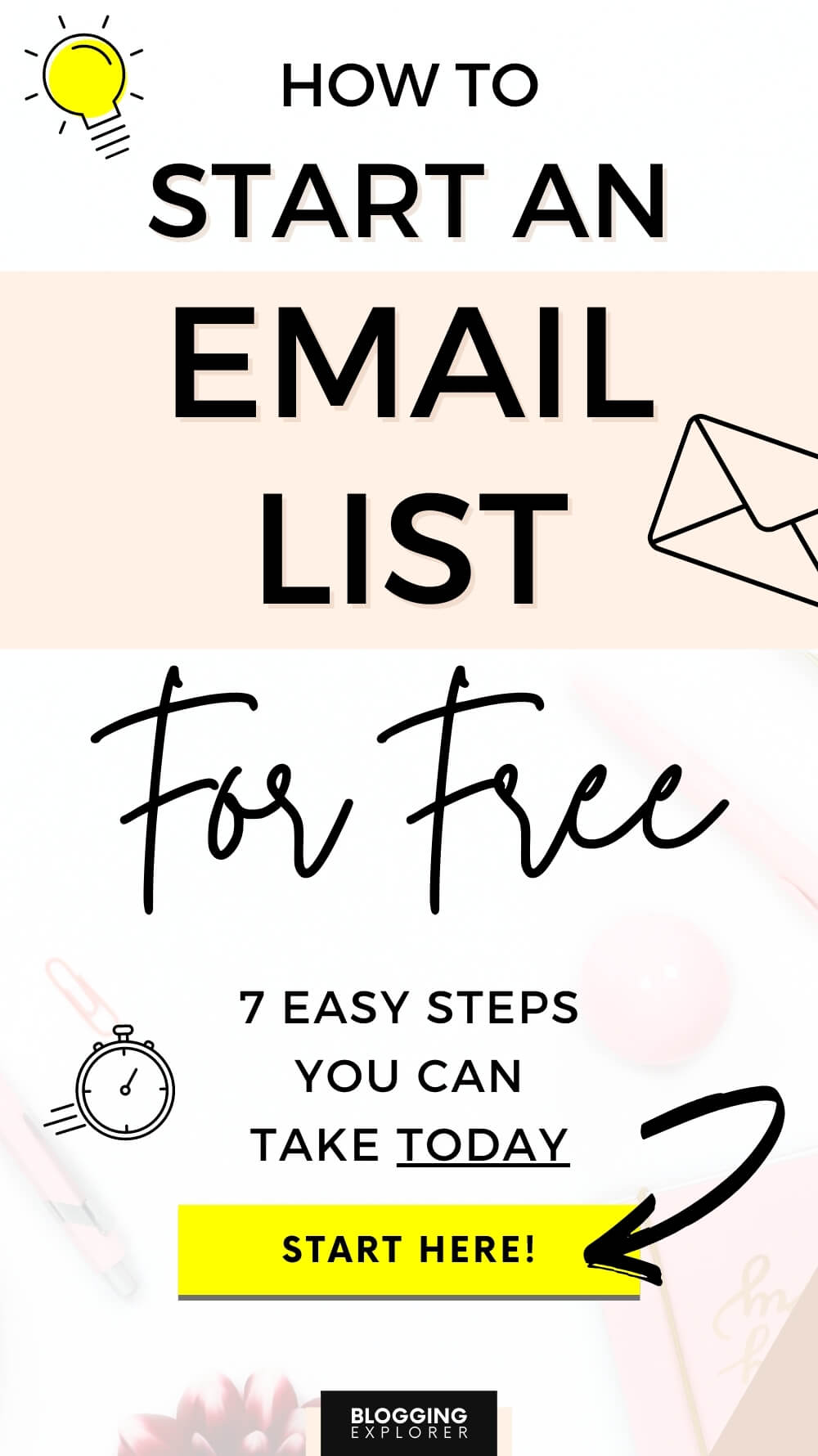 How to start an email list for free - Step by step guide for bloggers