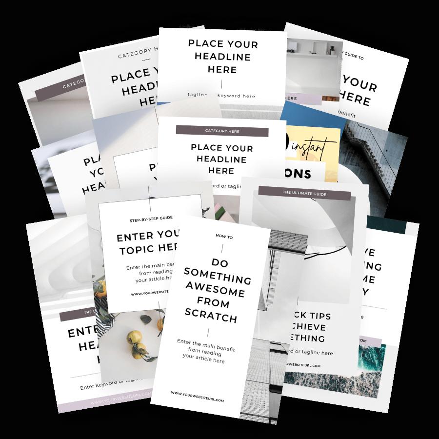 Minimal Canva Pinterest templates 07