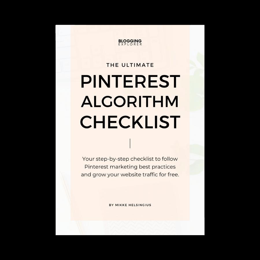 Pinterest Algorithm Checklist cover