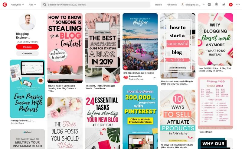 Pinterest Home Feed or Smart Feed