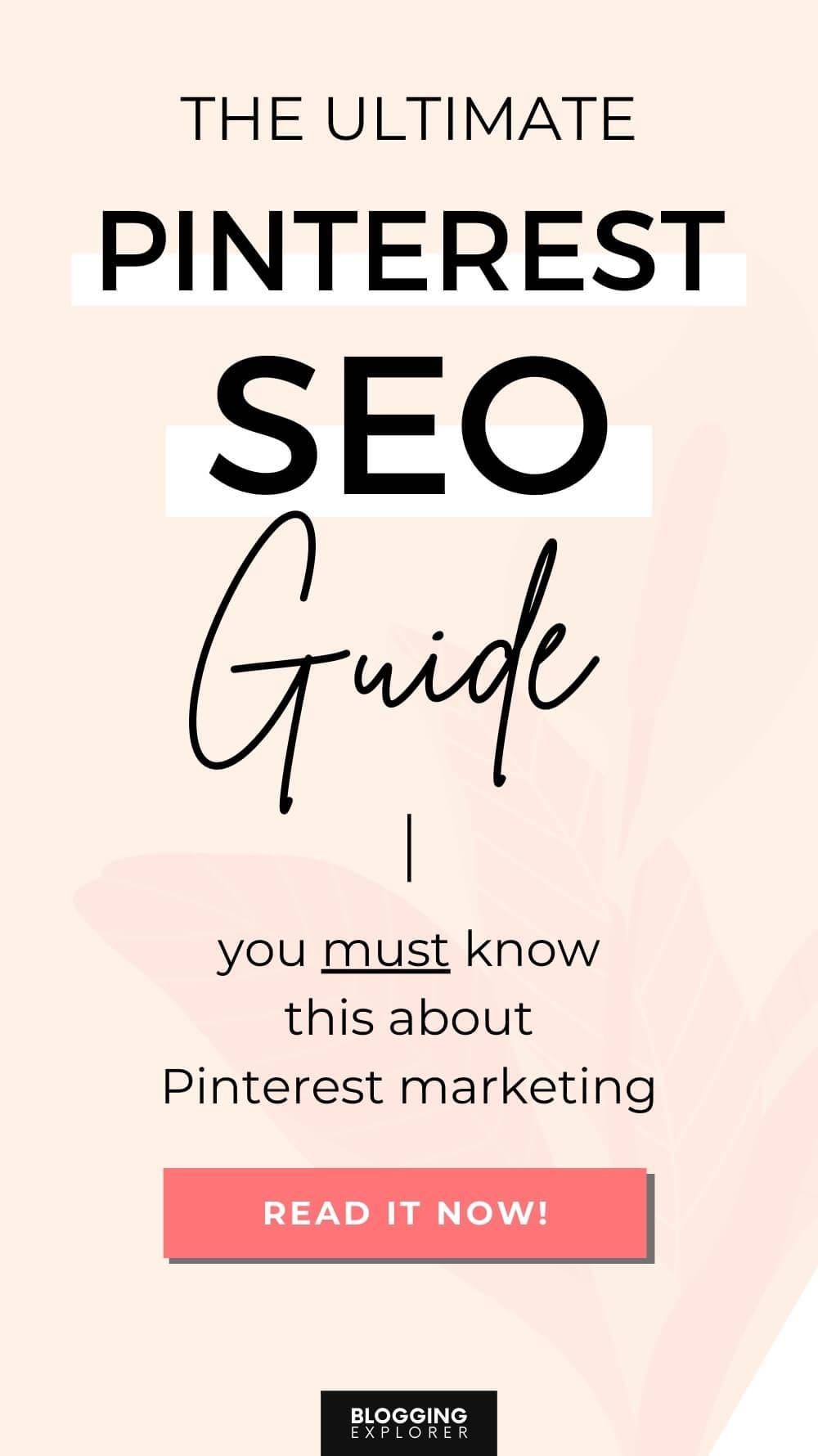 Pinterest SEO guide - Pinterest marketing for beginners