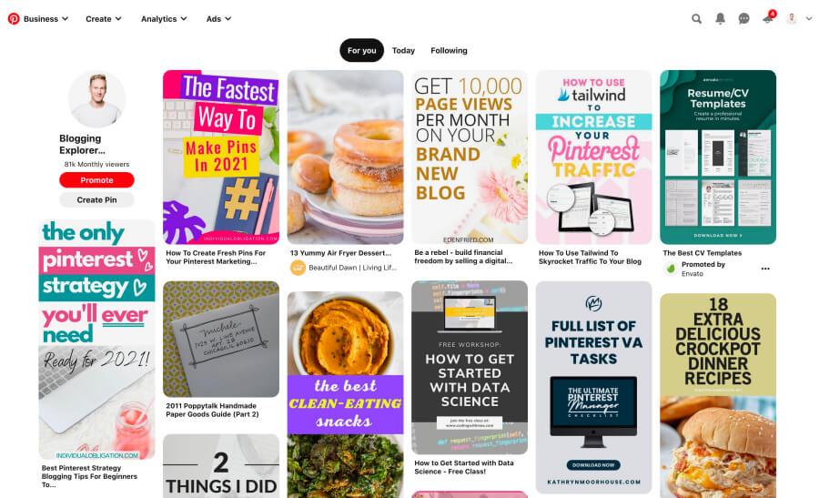Pinterest Smart Feed Home feed - Pinterest marketing for beginners