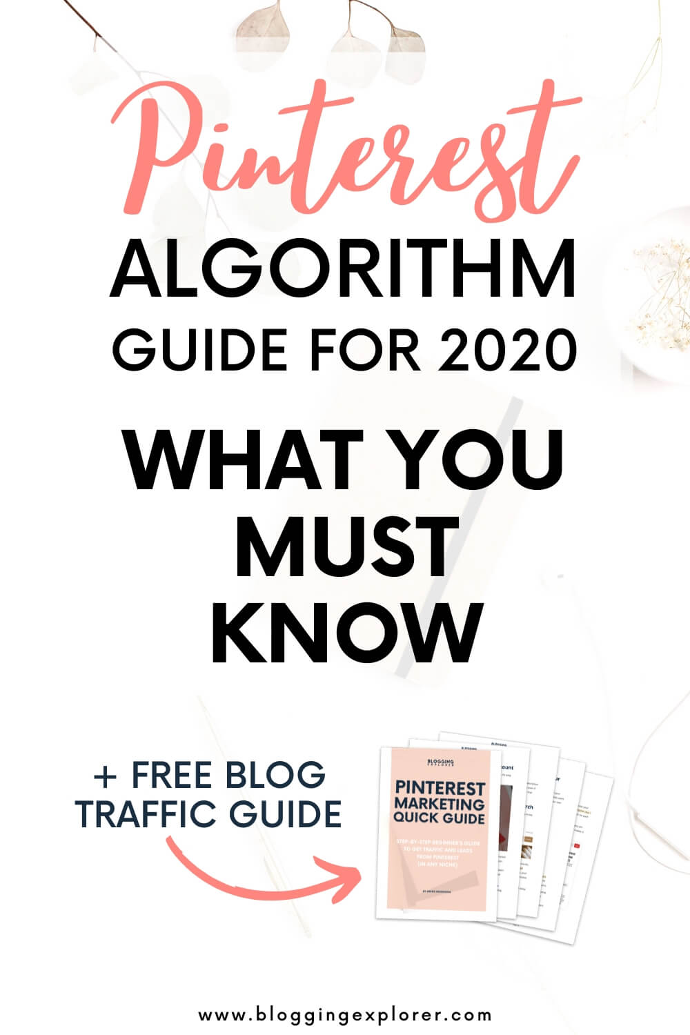Pinterest algorithm 2020 - How to grow blog traffic with Pinterest marketing strategies for beginners