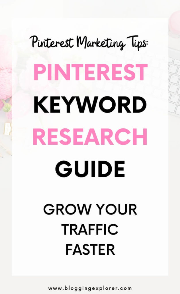 Pinterest keyword research guide for beginners - How to find keywords on Pinterest