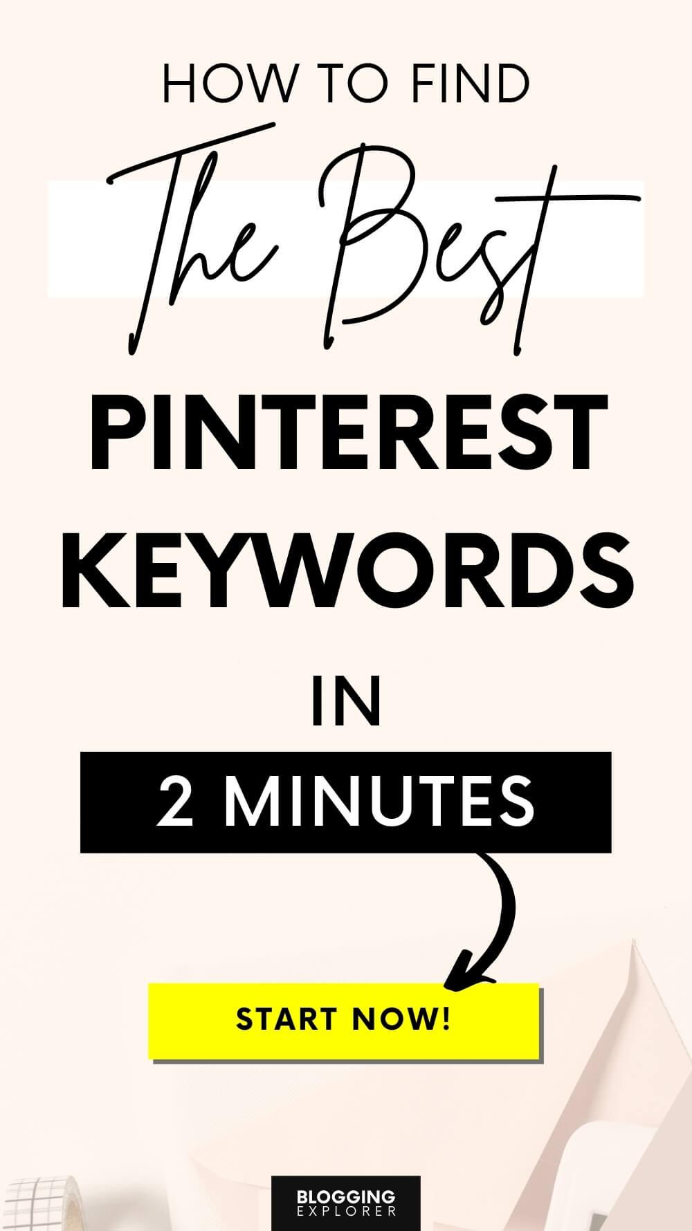 Pinterest keyword research guide for blog traffic - Blogging Explorer