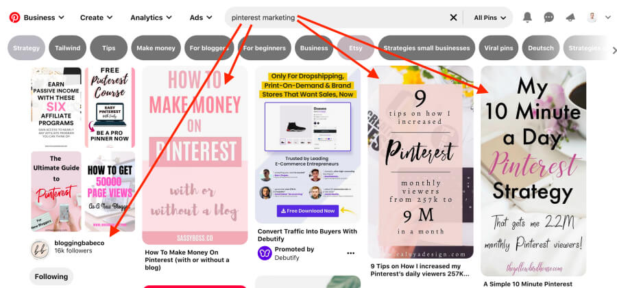 Pinterest marketing strategy - How to search for content on Pinterest
