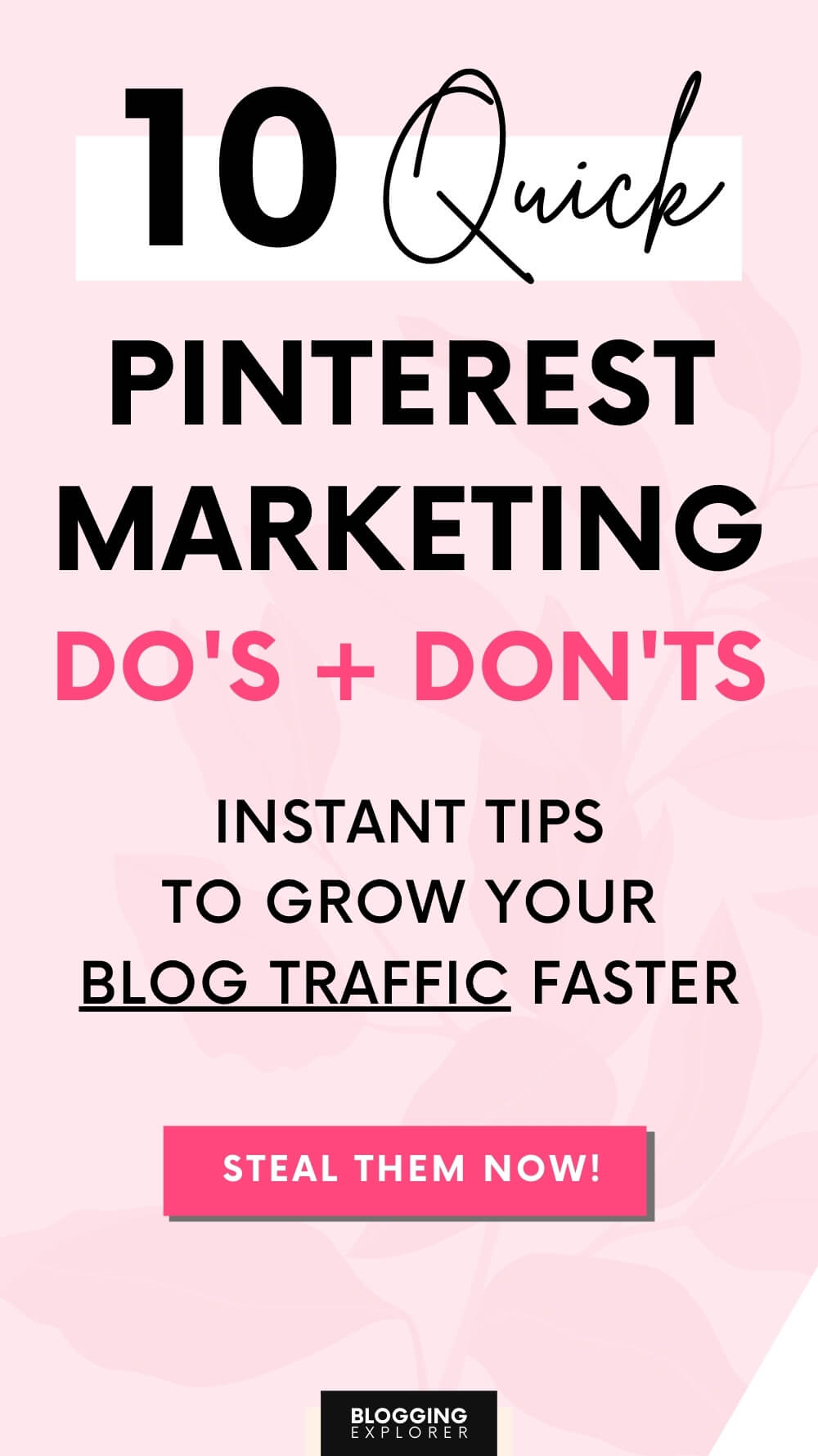 Pinterest marketing strategy dos and donts for bloggers - Blogging Explorer