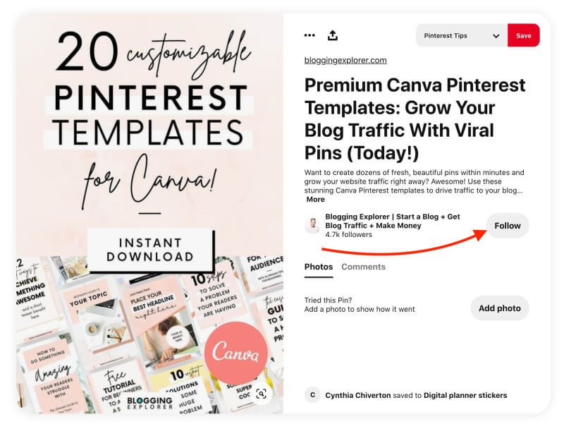 Pinterest marketing tips - Rich pins and the follow button