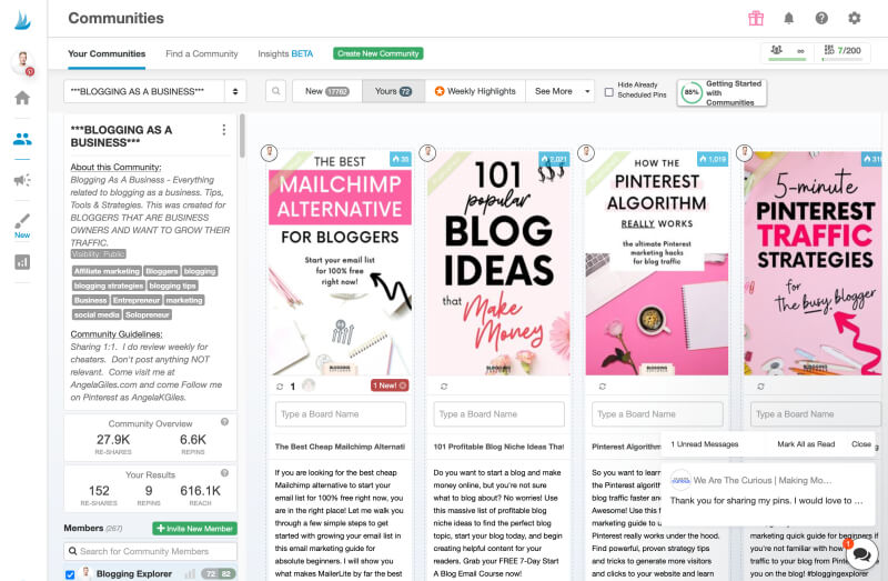 Tailwind Communities - Grow blog traffic with Pinterest