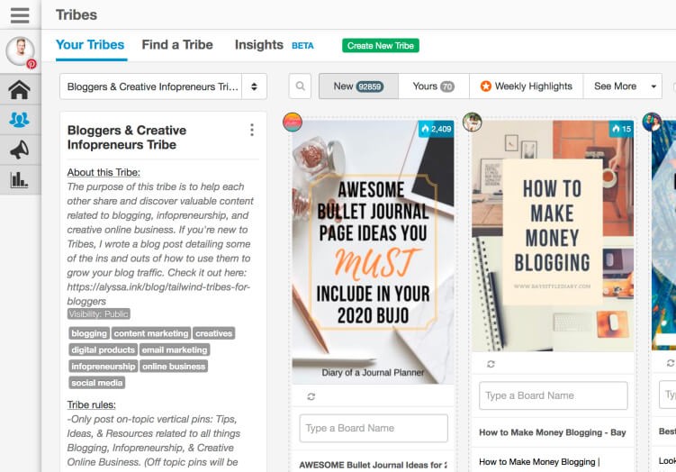 Tailwind Tribes - Grow blog traffic with Pinterest