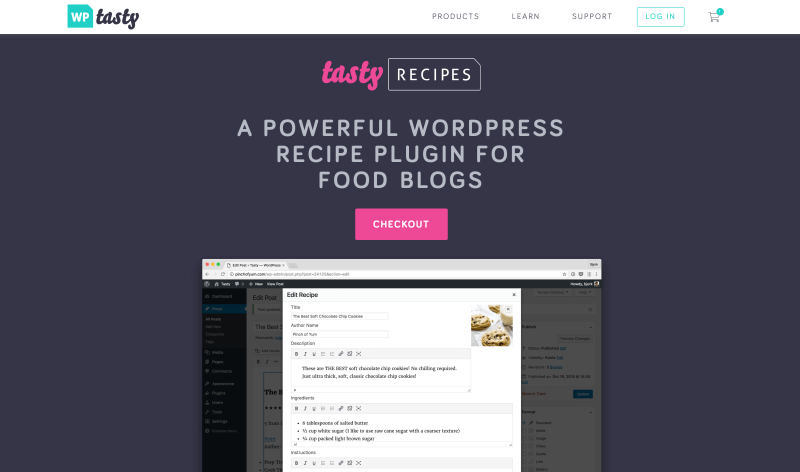 WP Tasty Recipes plugin