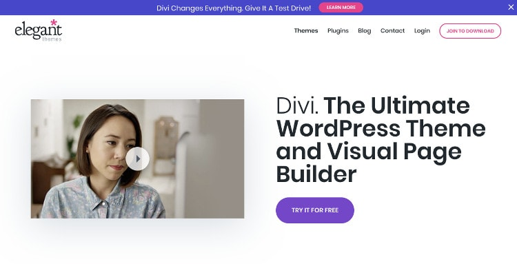 Divi Theme Best WordPress theme for beginner bloggers