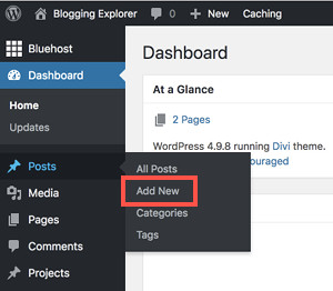 How to write a blog post in WordPress
